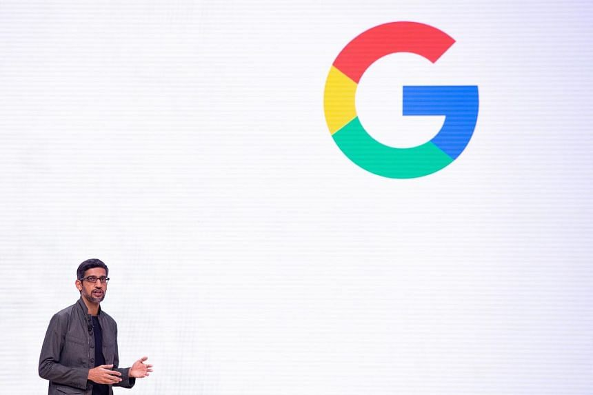 Google chief executive Sundar Pichai speaks during the annual Game Developers Conference at Moscone Center in San Francisco, on March 19, 2019.