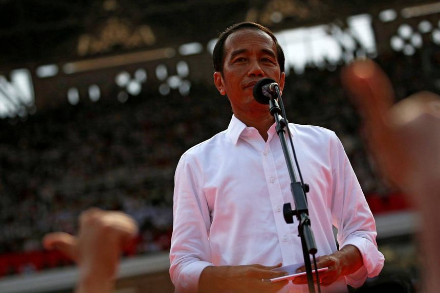 Indonesian President Joko Widodo is set for a second five-year mandate with an official running tally of April's election showing him leading challenger Prabowo Subianto by about 12 percentage points.