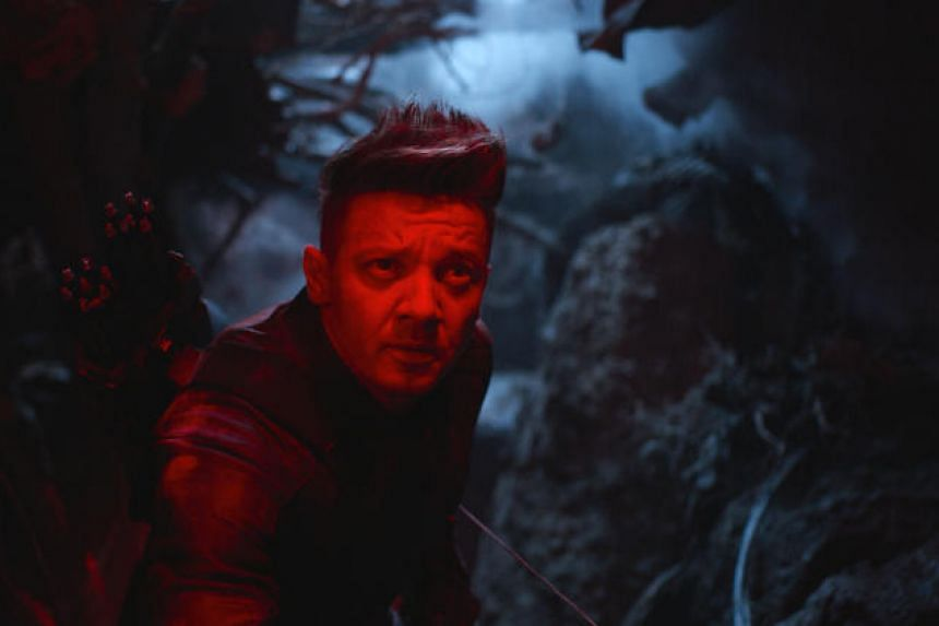 Movie still from Avengers: Endgame, starring Jeremy Renner.