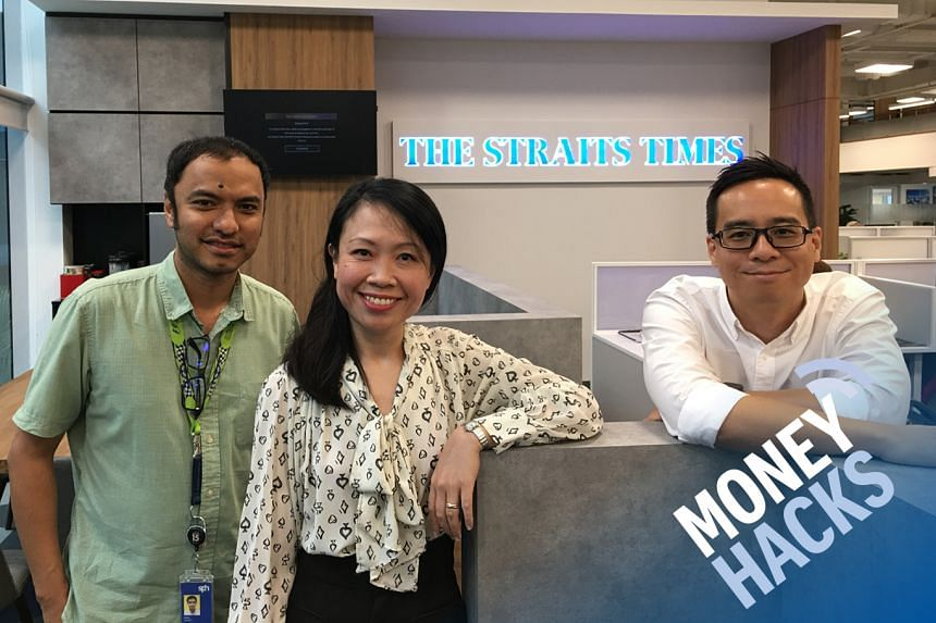 Money Hacks hosts Ernest Luis (left) and Chris Lim (right) host Ms Priscilla Joseph, vice-president of consumer banking for DBS Bank, and discuss how to earn bonus interest for bank-and-earn accounts.