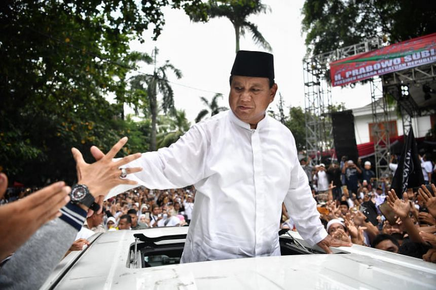 After polls closed on April 17, Mr Prabowo Subianto declared himself victorious, citing how his team's assessment had him winning 62 per cent of the votes.