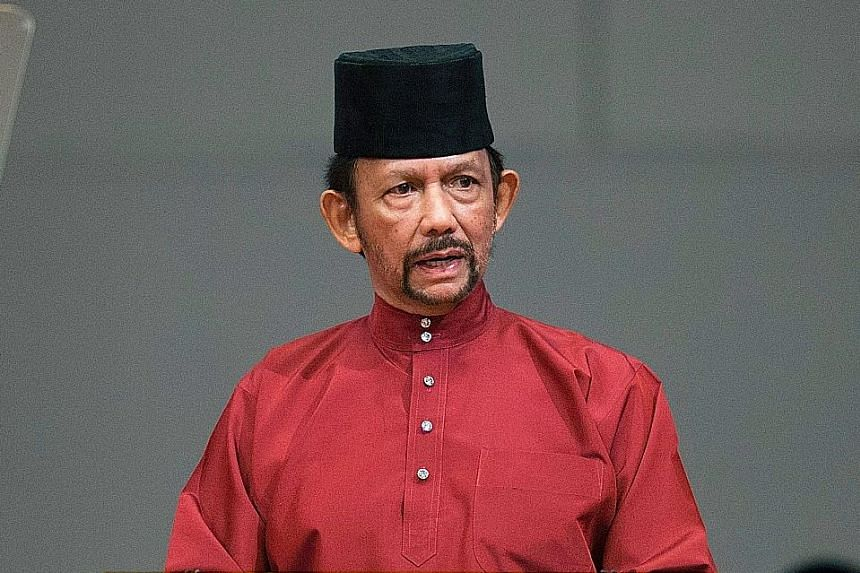 """Brunei Sultan Hassanal Bolkiah said there were """"many questions and misperceptions"""" about the implementation of the laws."""
