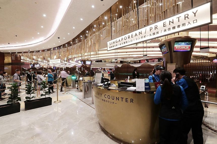 Entry fees to casinos here were raised last month when the Government announced plans to expand Marina Bay Sands and Resorts World Sentosa, with the exclusivity period for both casinos extended to end-2030. The daily casino entry levy for Singaporean