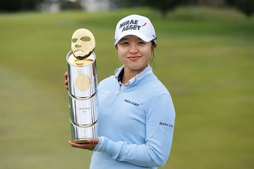 Kim Sei-young overcame a double-bogey, bogey start to Sunday's final round before regrouping to win the Mediheal Championship. PHOTO: AGENCE FRANCE-PRESSE
