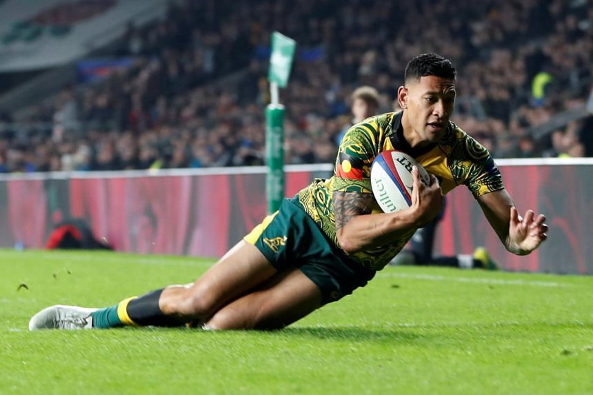 Rugby player Israel Folau (above) is challenging Rugby Australia's intention to sack him for his homophobic posts on social media.