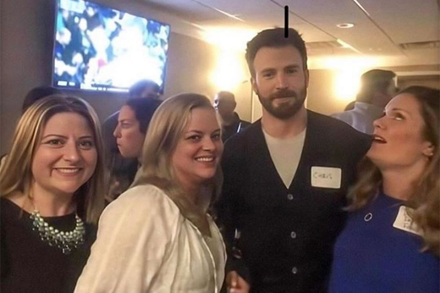 Participants of a class reunion for former students of Lincoln-Sudbury Regional High School went wild when they spotted Chris Evans of Avengers: Endgame fame.