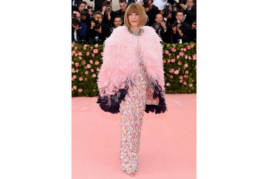 Anna Wintour attends The 2019 Met Gala Celebrating Camp: Notes on Fashion at Metropolitan Museum of Art, on May 6, 2019.