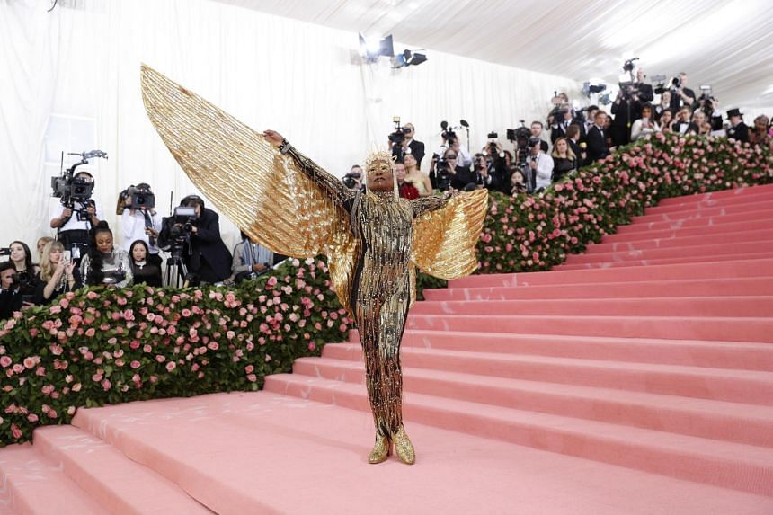 Billy Porter arrives on the red carpet for the 2019 Met Gala, on May 6, 2019.