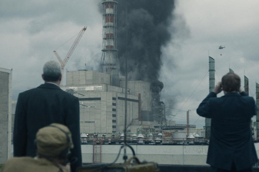 Still from HBO series Chernobyl, based on the April 1986 accident at the power plant which produced a giant explosion that spread deadly radioactive material.
