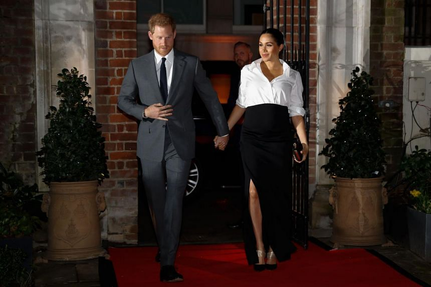 Britain's Prince Harry and Meghan, Duchess of Sussex, in London on Feb 7, 2019. The royal baby was born in the early hours of the morning on May 6, 2019.