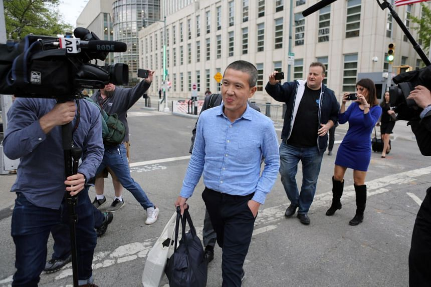 Former Goldman Sachs banker Roger Ng leaving the US District Court in New York on May 6, 2019.