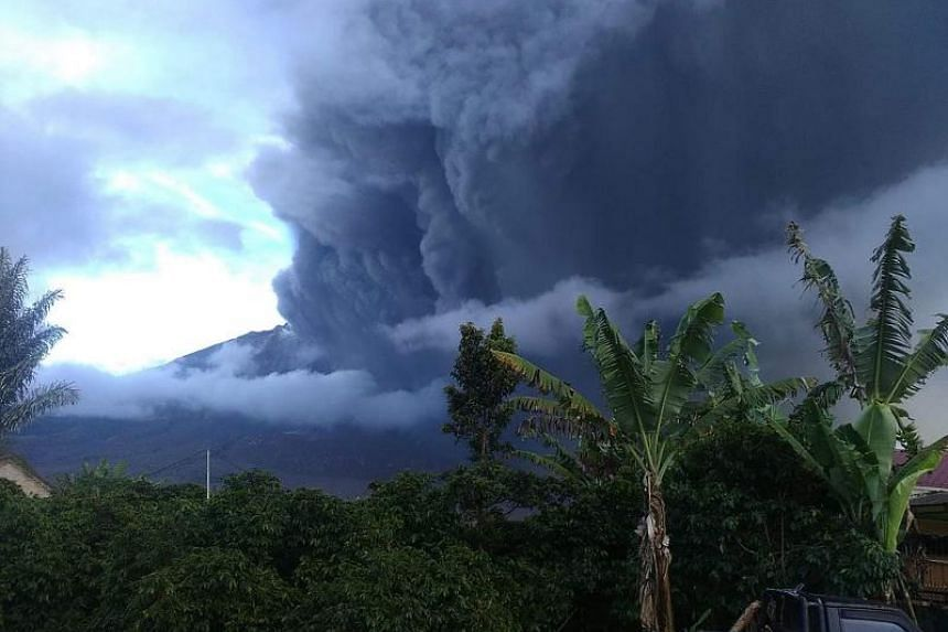 Mount Sinabung on Sumatra island has been rumbling since 2010 and saw a deadly eruption in 2016.