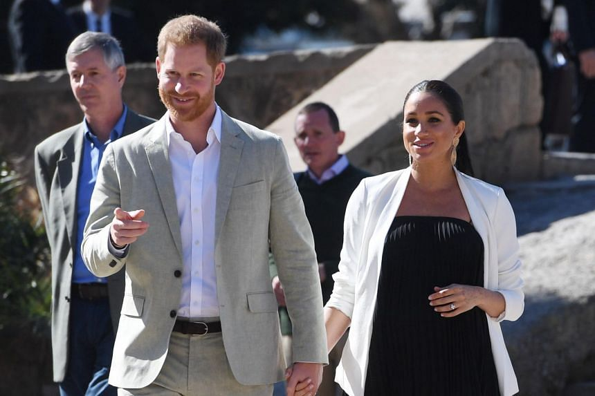 Prince Harry wore the most 'dad' jumper to announce his son's birth