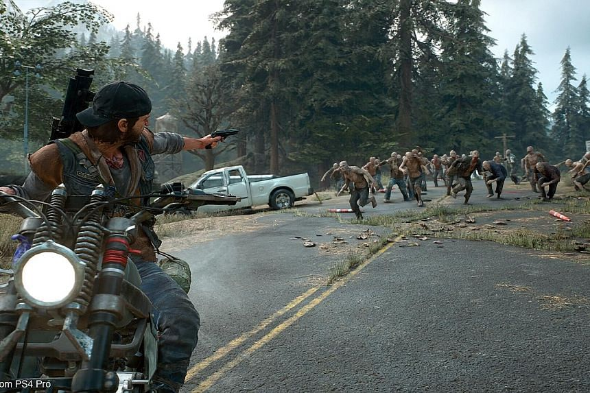 Days Gone's protagonist Deacon St John battles zombies, among other missions, in the game.