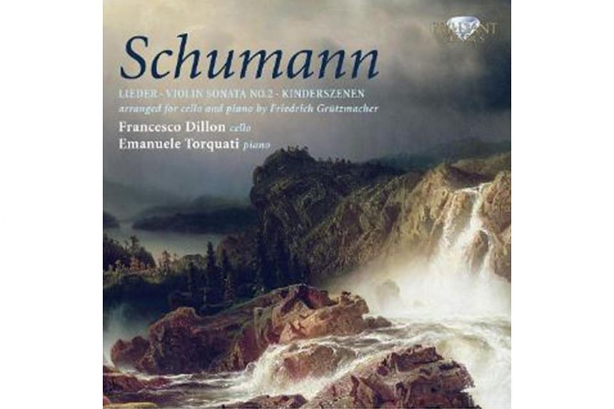This album of transcriptions by German virtuoso cellist Friedrich Grutzmacher (1832-1903) of Schumann's Lieder, selected piano pieces and an entire sonata is a godsend for cellists seeking new repertoire.