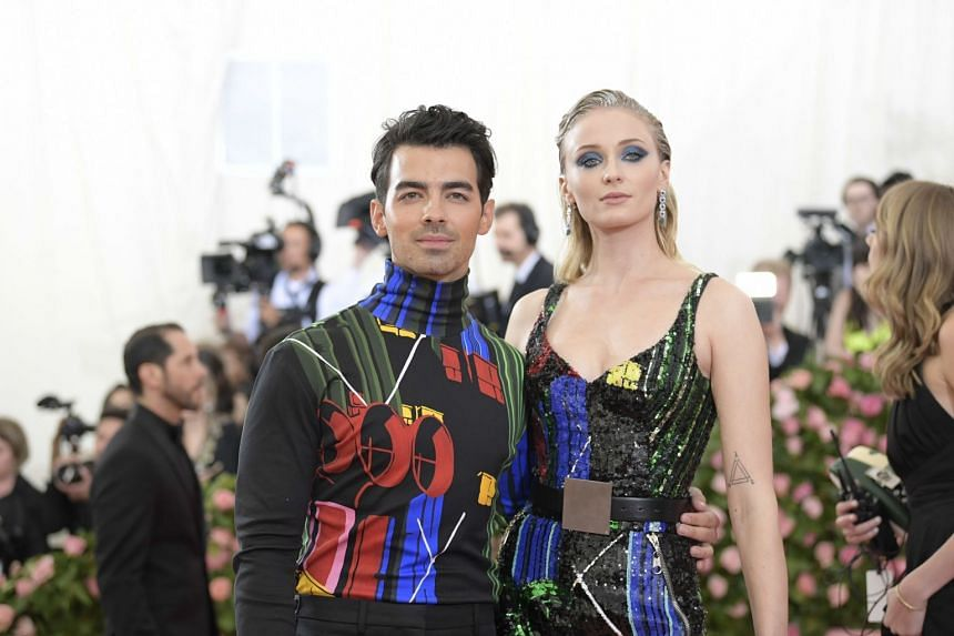 Singer Joe Jonas and actress Sophie Turner, who got married last Wednesday.