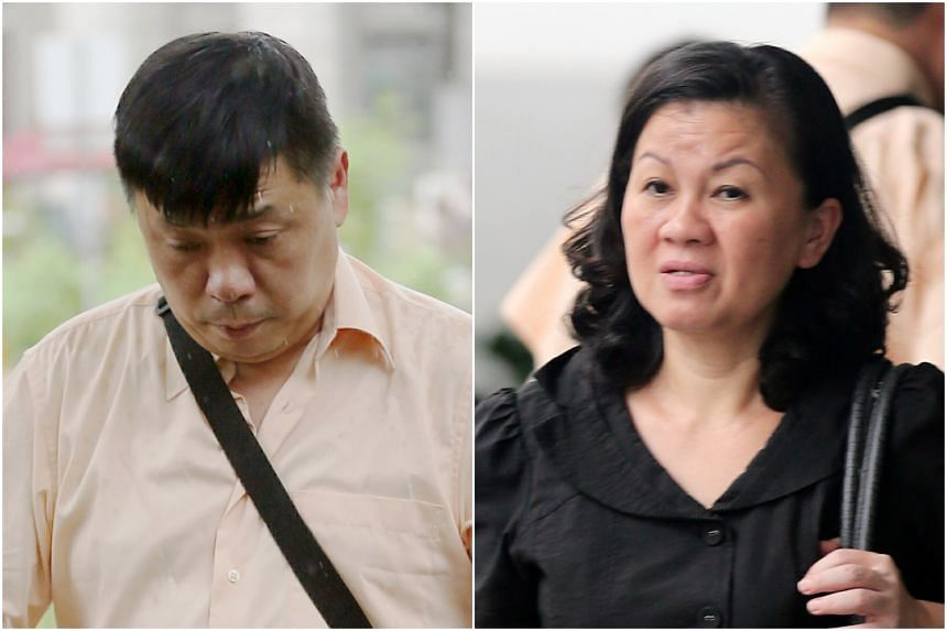 Cabby Lim Kheng Soon (left) and his live-in girlfriend Jecyn Penpelnel Chong Siew Moi were found guilty of assaulting their Indonesian domestic helper.