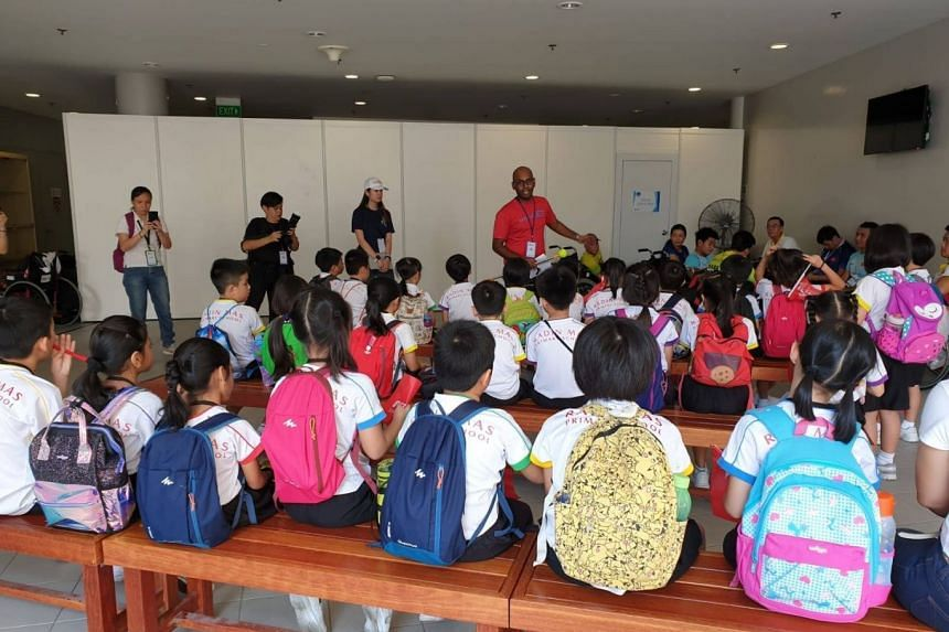 Over 50 pupils and students from Radin Mas Primary School and Bukit Panjang Government High attended the first day of the learning journeys at the OCBC Aquatic Centre.