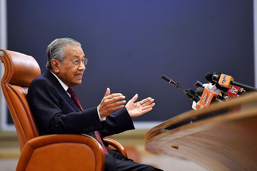 Malaysian Prime Minister Mahathir Mohamad at a special press conference yesterday in conjunction with Pakatan Harapan's first year in government. After a tough year of administering government and trying to appease an increasingly conservative Malay