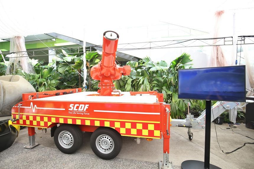 The Modular Oil Tank Firefighting System, which can help the SCDF in fighting a blaze similar to the massive Pulau Busing fire in 2018.