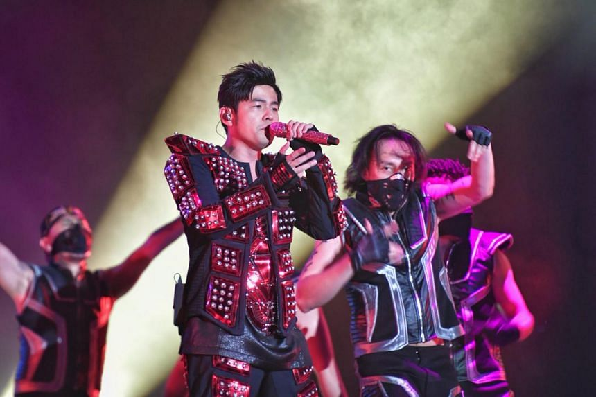 Singer Jay Chou performing at the Padang on Sept 14, 2018. He will perform two shows on Jan 10 and 11 at the National Stadium.