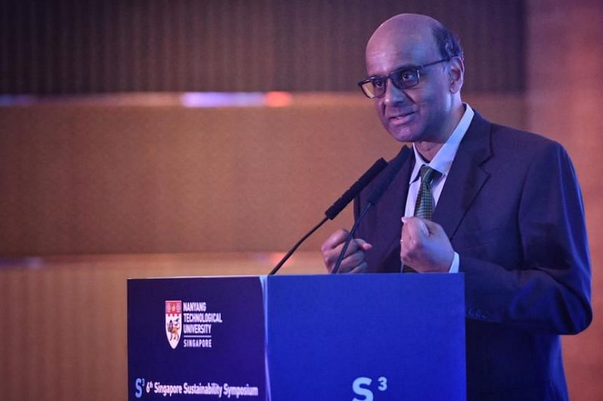 Senior Minister and Coordinating Minister for Social Policies Tharman Shanmugaratnam urged countries and companies to invest in innovations that are more energy efficient and less destructive to the environment.