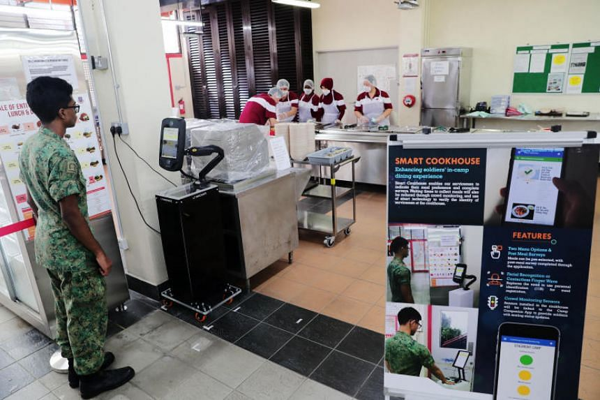 Smart Cookhouse, one of the Smart Camp initiatives which digitalise processes for greater efficiency, and provide greater convenience to servicemen.