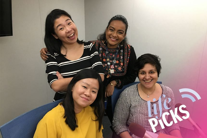 (Clockwise from back row) Life Picks host Melissa Sim chats with colleagues Anjali Raguraman, Akshita Nanda and Eunice Quek about the best things to do in Singapore from May 9-23.