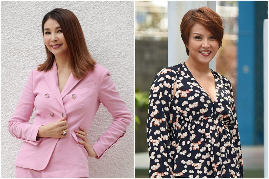 Local actresses Chen Xiuhuan (left) and Aileen Tan both received e-mails which asked them to verify their accounts or risk having them deleted.