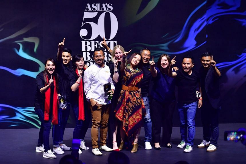 The team from The Old Man at the Asia's 50 Best Bars awards ceremony at Capitol Theatre on May 9, 2019.
