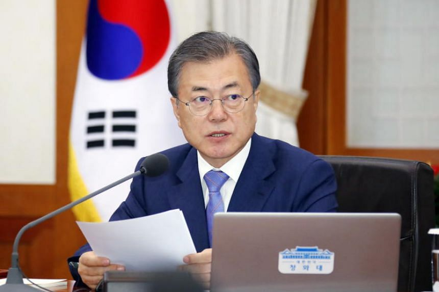 South Korean President Moon Jae-in enters the third year of his five-year term with an approval rating of 45 per cent - down from last year's high of 83 per cent.