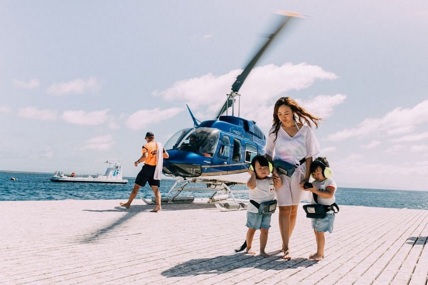 Leia and Lauren experienced their first helicopter ride. PHOTO: INSTAGRAM/ LEIALAUREN