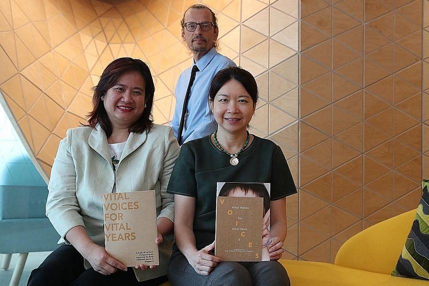 The study was led by (from left) Professor Lynn Ang, Professor Lasse Lipponen and Associate Professor Sirene Lim.