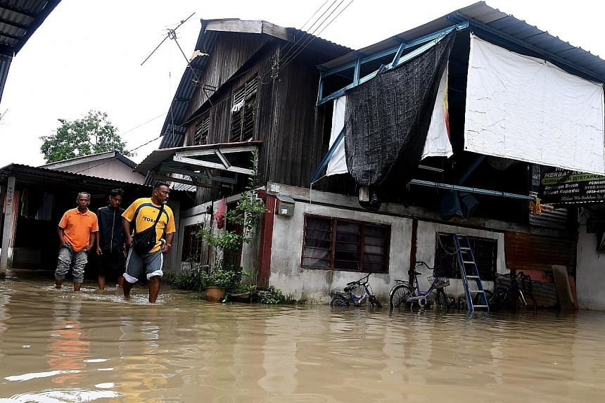 Residents in the Butterworth area of Penang were among those who were badly affected by the heavy rains which began on Wednesday night.