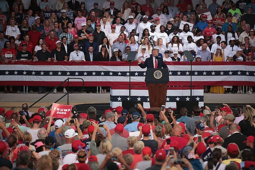 United States President Donald Trump speaking at a rally in Florida on Wednesday. Expectations were recently riding high that a trade deal between the US and China could be reached, but a deep rift over the language of the proposed agreement opened u