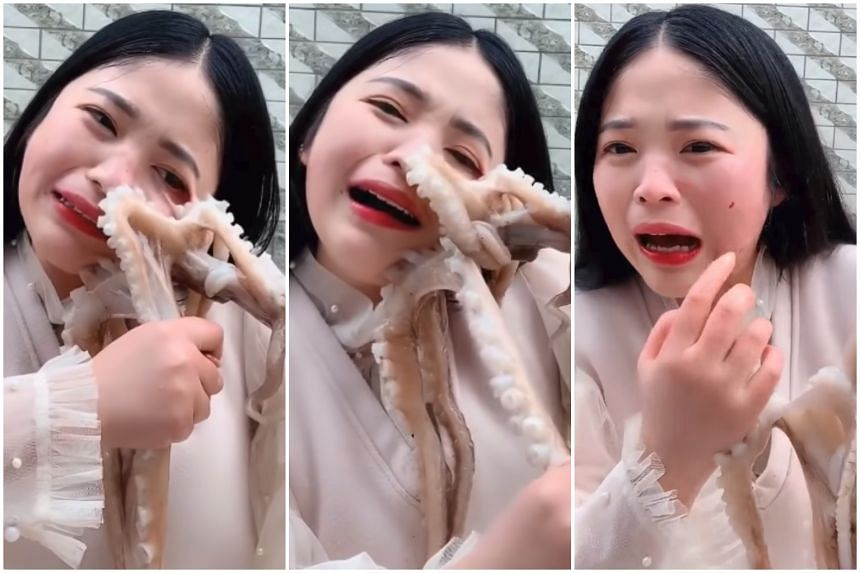 Octopus nearly rips off face of Chinese livestreamer who tried to eat it alive,