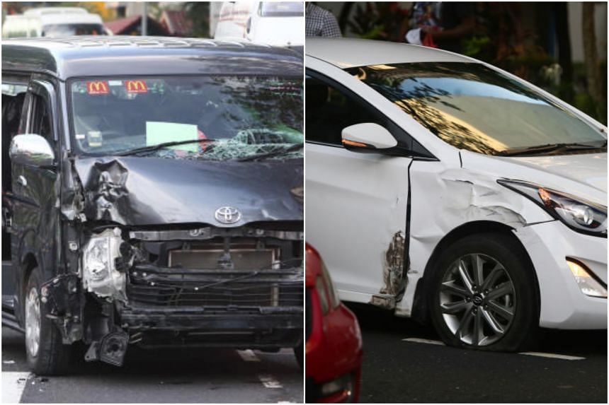 An accident between a van and a car occurred along Ang Mo Kio Avenue 6 on May 9, 2019.
