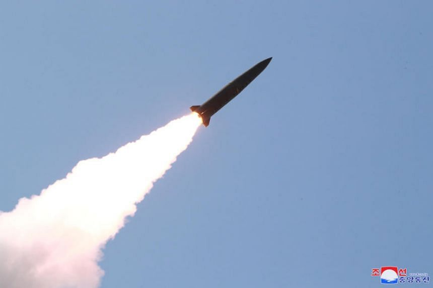 Photos released by North Korean state media on May 10, 2019 showed a test of a relatively small, fast missile.