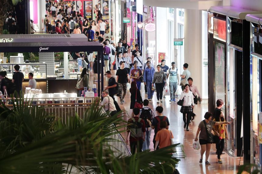 According to figures from the Department of Statistics, retail sales dipped by 1 per cent in March from 2018, much improved from the revised 9.9 per cent fall in February.