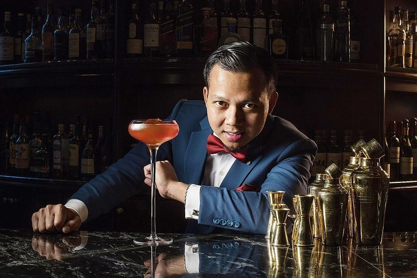 The Old Man cocktail bar was conceived by Mr Agung Prabowo (above), among other bartenders.