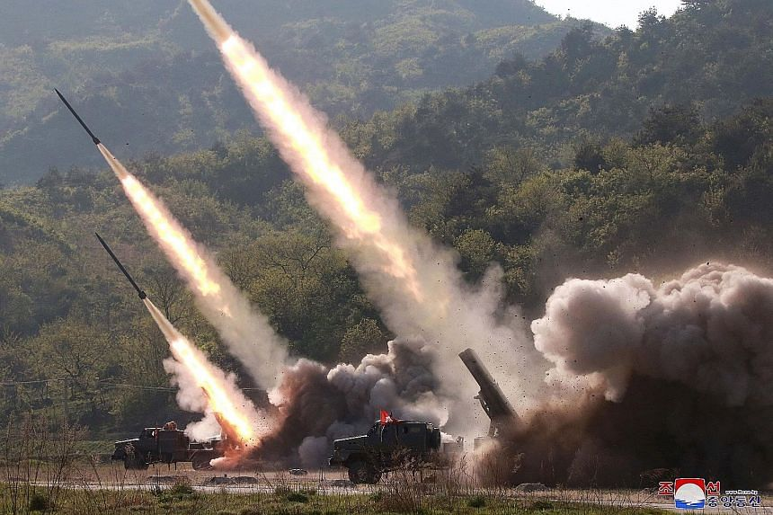 "North Korean leader Kim Jong Un has called for a ""full combat posture"" as state media yesterday released photos showing missiles being fired during a long-range strike drill conducted by Pyongyang. The photos came a day after it tested two short-rang"