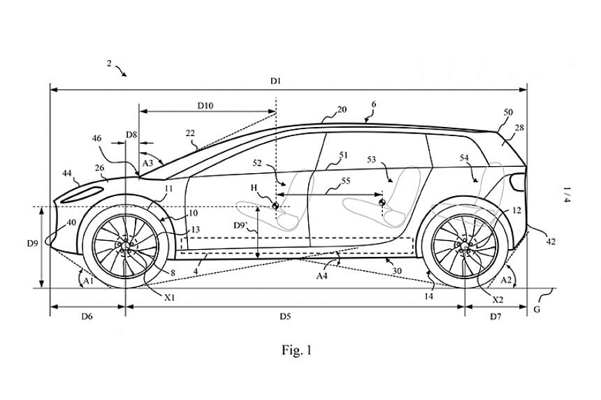 Dyson's electric car may have a long wheel base, an interior cabin with reclining seats and an aerodynamic design, according to patents awarded to the company.