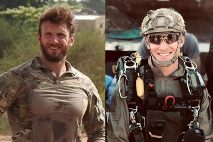 The two French special forces soldiers, Cedric de Pierrepont (left) and Alain Bertoncello, were killed in a night-time rescue of four foreign hostages including two French citizens in Burkina Fasso are seen in an undated photo released by French Army