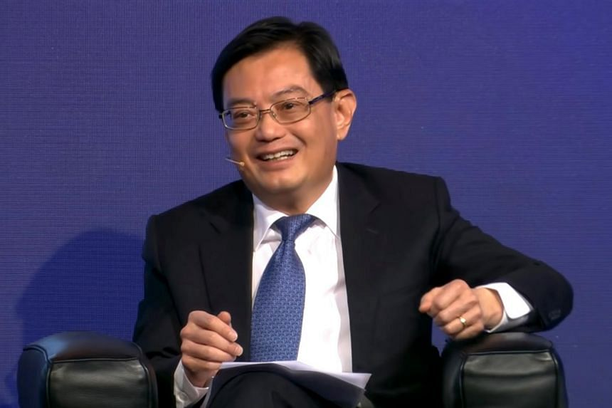 Deputy Prime Minister Heng Swee Keat at the opening plenary session at the 49th St Gallen Symposium in Switzerland on May 10, 2019.