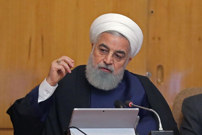 Iran's President Hassan Rouhani heads a cabinet meeting in Tehran on May 8, 2019.