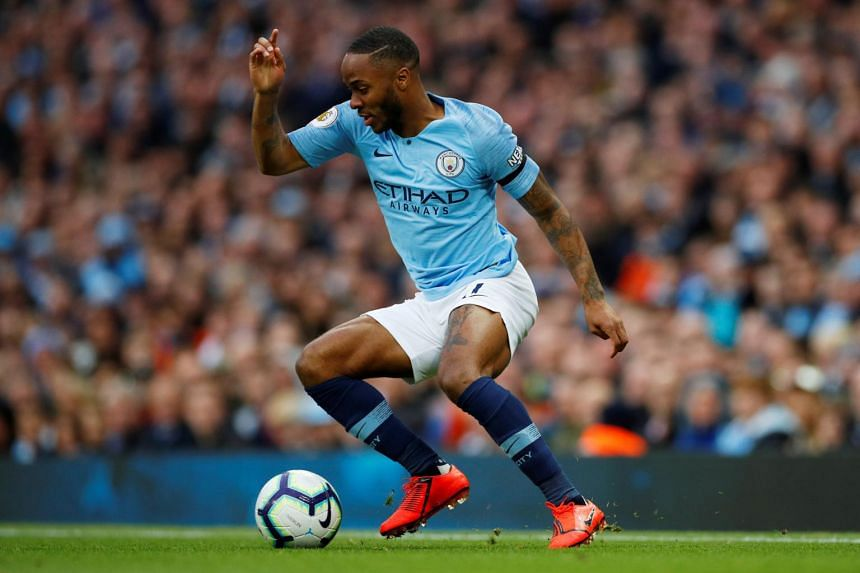Manchester City's Raheem Sterling in action at Etihad Stadium, Manchester, Britain, on May 6, 2019.