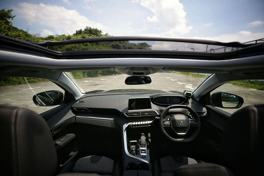 The Peugeot 3008 has a panoramic sunroof with motorised screen and blue LED accents; and its chassis is as exquisite as before.