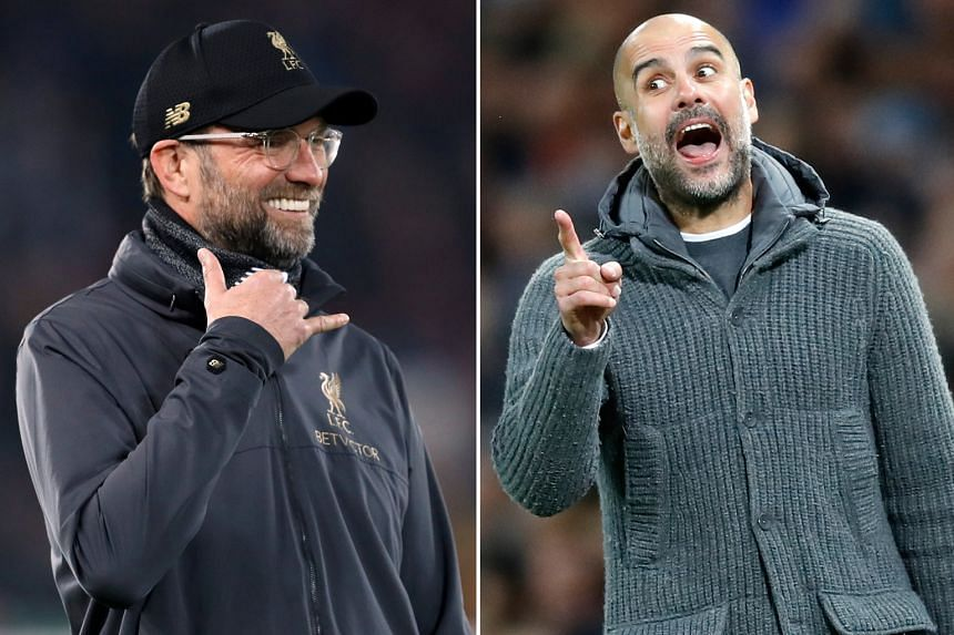 Liverpool manager Jurgen Klopp (left) is more upbeat and outgoing than his Manchester City counterpart Pep Guardiola, who is considered high-strung and famed for his attention to detail.