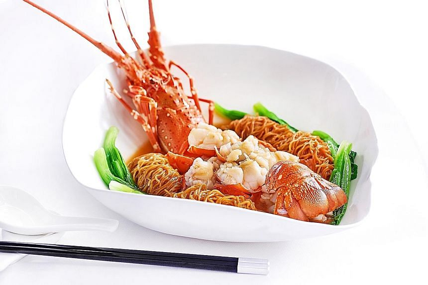 Stewed Noodles With Lobster.