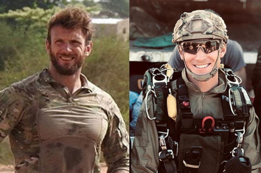 French army photos of commandos Cedric de Pierrepont (top) and Alain Bertoncello, who were killed in the rescue operation. Two French tourists were kidnapped on May 1 in Benin's Pendjari National Park, near the Burkina Faso border.